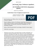 Lauren Ostrow and Joseph Teiger v. Commissioner of Internal Revenue, 430 F.3d 581, 2d Cir. (2005)
