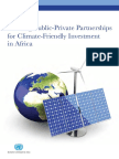 Building Public-Private Partnerships for Climate-Friendly Investment in Africa