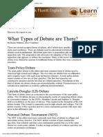 formats of debate