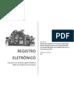 Registro Eletrônico - A Perspectiva da atividade registral