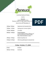 Leadership Summit and Training Agenda_2008