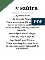 Szív Szútra - A ''Kis Buddha'' c. filmben hallható verzió
