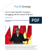 Europe Shrugging Off the Shock of Brexit