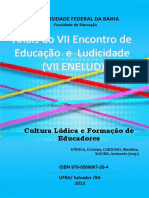 Cristina D'Avila, Marilete Cardoso e Antonete Xavier (Org.) - Cultura Lúdica e Formação de Educadores