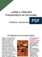 Historia del vestuario 2 Presentación, Chavín y Paracas