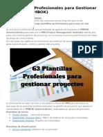 63 Plantillas Profesionales para Gestionar Proyectos.docx