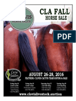 Clovis Horse Sales Fall 2016 Catalog