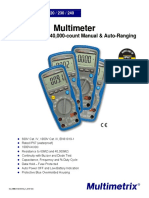 Multimetrix multimeters