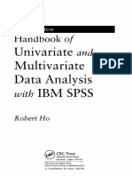 Handbook of Univariate and Multivariate Data Analysis With IBM SPSS, Second Edition
