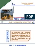 Especializacion Analisis y Aplicacion de Las Niif Ni 17 Nic 40 y Nic 38 Ferrer 11 Marzo 2016 Afq Ok 2
