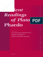 (Philosophia Antiqua 140) Sylvain Delcomminette, Pieter d'Hoine, Marc-Antoine Gavray-Ancient Readings of Plato's 'Phaedo'-Brill Academic Publishers (2015)