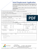 142 Completed Sample Employment Application