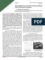 Experimental Investigations on Depth of Cut in Abrasive Waterjet Machining of Al/B4C Metal Matrix Composites