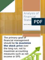 FinMan Report on FS Analysis RATIO
