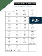 Inventario de Segmentos Fónicos