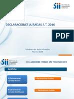 Declaraciones Juradas at 2016 SII