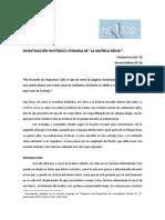 Investigacion Historico Literaria de La Muneca Reina