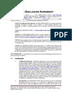 Non-Disclosure Agreement (Mutual)