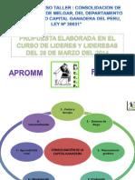 Propuesta de Capital Ganadera Del Peru