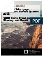 Survey of Mortgage Originators, Second Quarter 2016