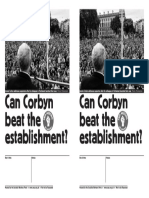 Can Corbyn Beat the Establishment