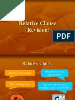Relative Clause Presentation
