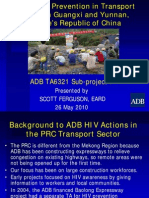 HIV/AIDS Prevention in Transport Sector in Guangxi and Yunnan, People's Republic of China