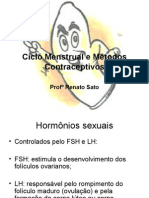 Biologia PPT - Sistema Reprodutor Ciclo Menstrual e Métodos Contraceptivos