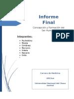 Informe Final concepcion y formacion del cuerpo humano
