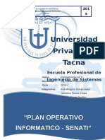 Plan Operativo Informatico de SENATI