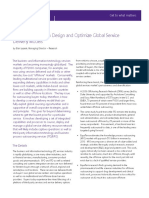 How to Design and Optimize Global Service Delivery Models