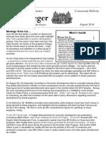 Senator Krueger's Community Bulletin - August 2016