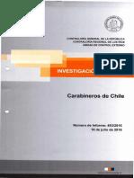 Informe Contraloría Carabineros