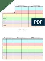 Modelo Horario - Materias