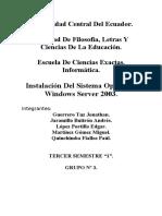 Manual Instalacion Windows Server 2003