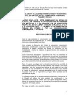 Reglamento de La Ley de Comunicaciones y Transportes en El Estado de Tlaxcala