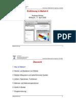 Matlab 6 - Einführung in Matlab 6