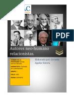 Autores neo- humano relacionistas.