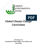 Global Climate Change Curriculum
