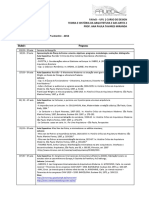 Thaa 2 - Cronograma de Aulas 2016