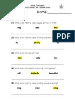 Phonics Unit 3 - Teacher's Script & Answer Sheet