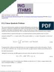 1522 Linear-Quadratic Problems