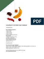 Azafrán Con Frutas y Rosas