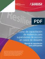 Curso Para Intervención Con Resiliencia en casos de desastre