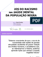 Saude Coletiva - Os Danos Do Racismo a Saude Mental