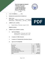 Huron Township Board of Trustees - 10 Aug 2016 - Agenda