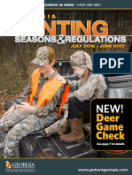 2016-17 Georgia Hunting Regulations