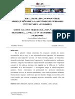 Articulo 3 Valores Morales en La Educacion Superior