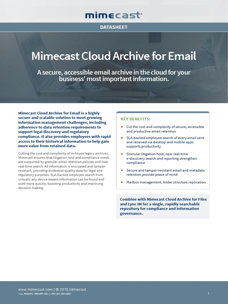 Ds Cloud Archive for Email 2 | Email | Cloud Computing