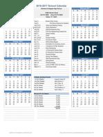 2016-2017 RCHS Calendar